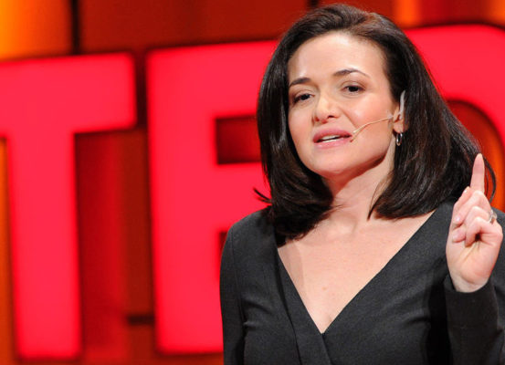 Picture of Sheryl Sandberg doing a TED talk