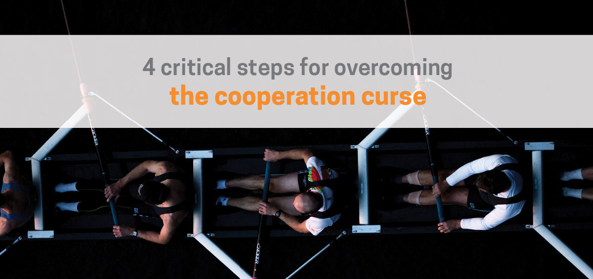 Header image for article on how to overcome the Cooperation Curse (a.k.a Collaboration Curse)