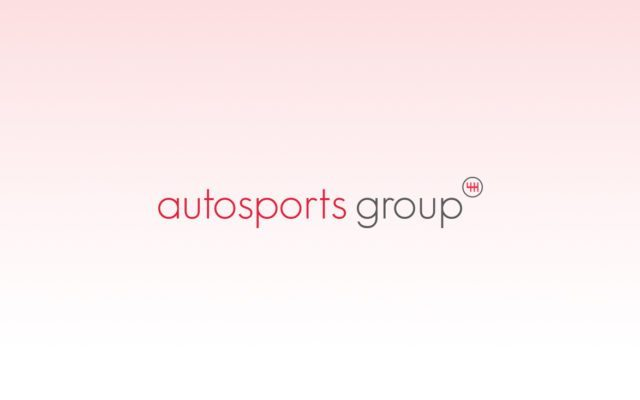 Logo for Autosports Group with pale pink and white gradient background