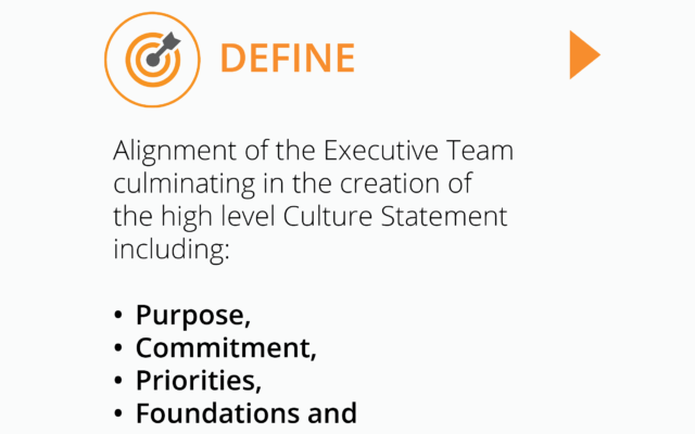 Square image for Define - culture capture project by Corporate Edge to help leaders define their culture