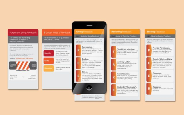 Mockup of Mobile Reference Notes - One of Corporate Edge's Solutions to Creating Tailored Programs for Cultural Alignment