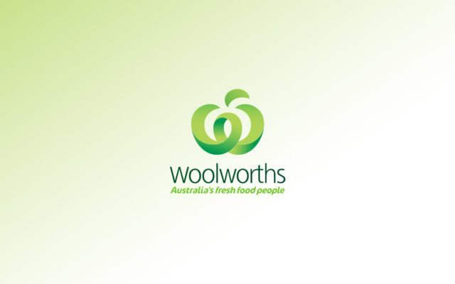 Woolworths logo with green gradient background - one of our culture alignment clients