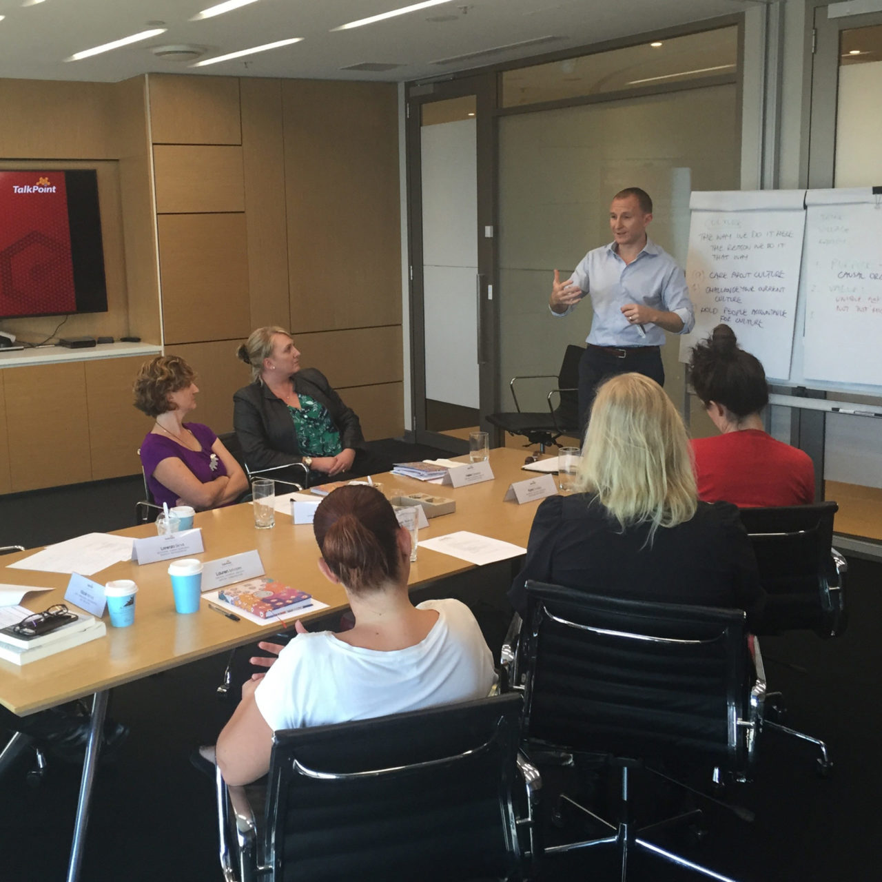 John Colbert holding a Corporate Coaching Workshop - Just one of the solutions Corporate Edge offers for Cultural Alignment