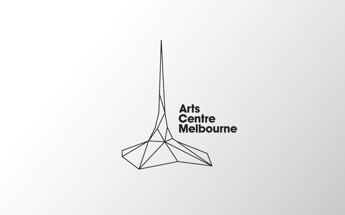 Logo for Arts Centre Melbourne with white & grey gradient background