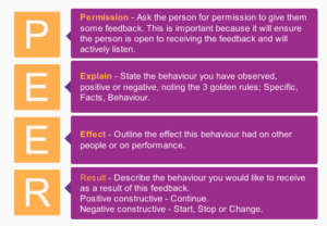 The PEER model for preparing and structuring negative & positive feedback