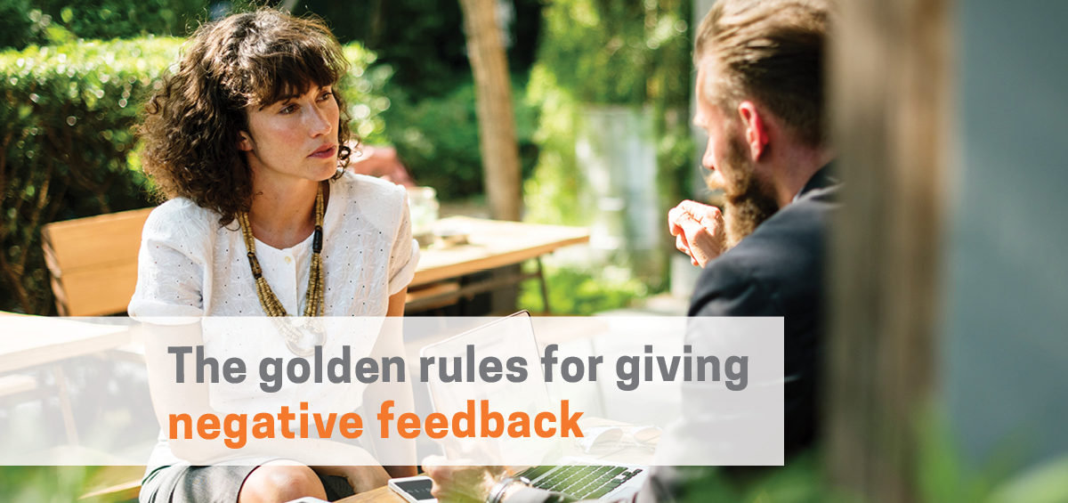 Header image for: The Golden Rules for Giving Negative Feedback