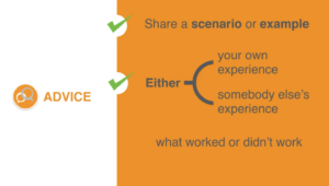 Graphic diagram illustrating how to become a better mentor