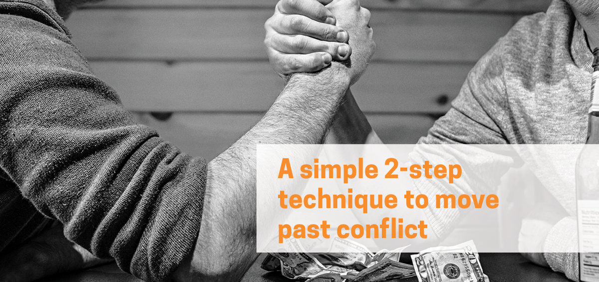 header image of an arm wrestle, symbolising a workplace conflict.