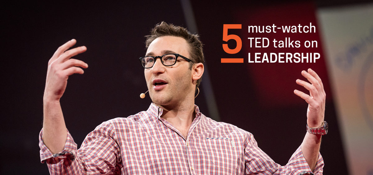 Feature image for article on Top 5 Leadership TED talks for the Time Poor CEO