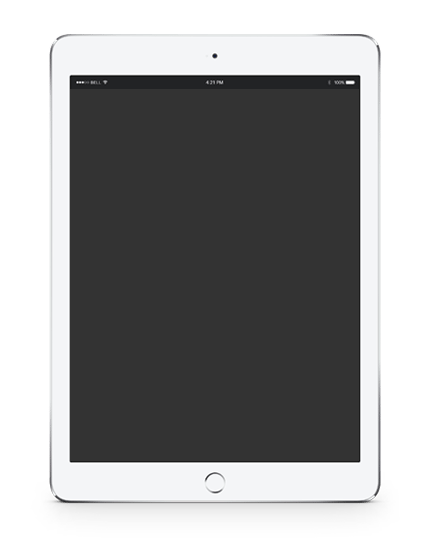 Transparent image of White iPad
